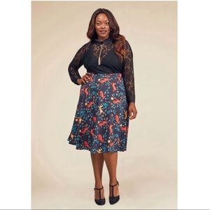 ModCloth Testament To Your Merriment A-Line Skirt